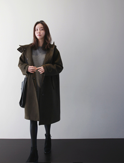 어렌트후드 coat(울혼방)